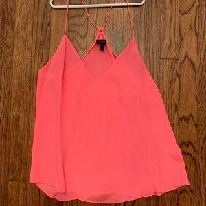 Coral thin strap tank top. Never worn tags on.